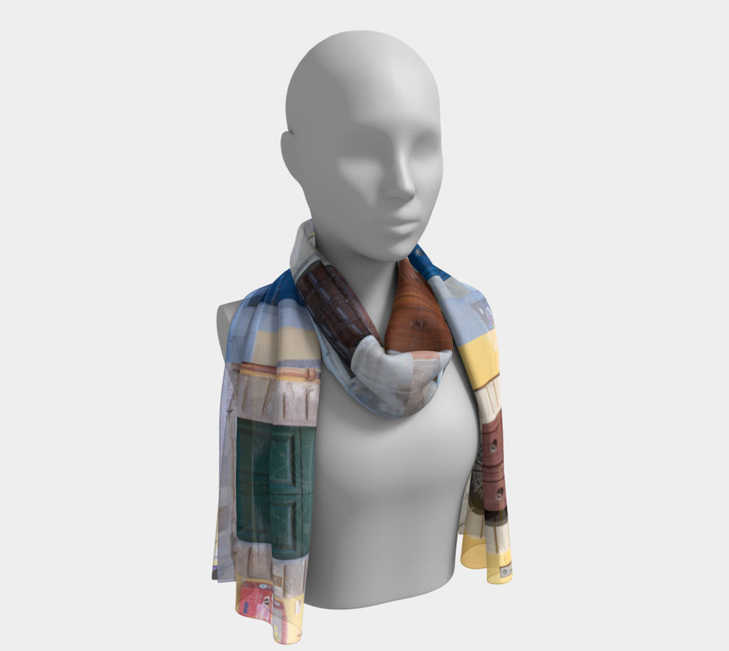 Doors of Pisa Long Scarf- ealanta Art Wear