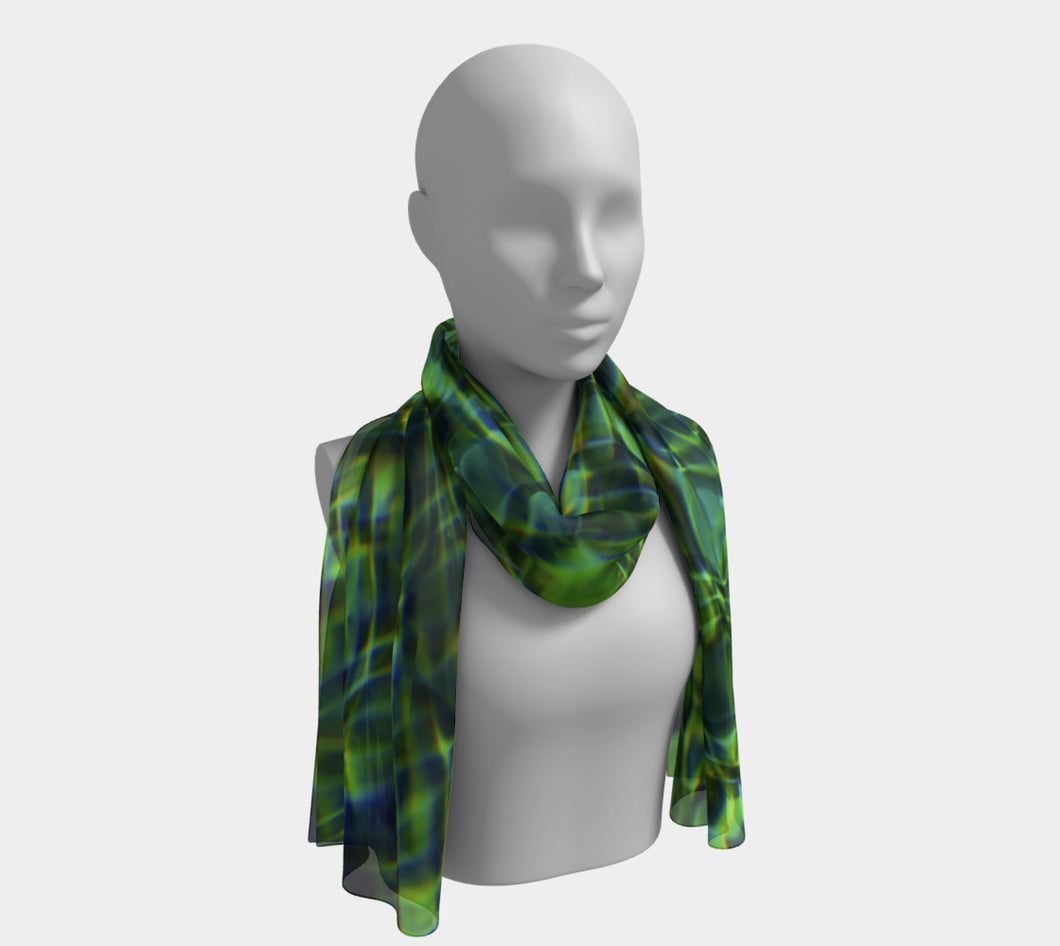 Tuscan Pool 2 ealanta Long Scarf- ealanta Art Wear