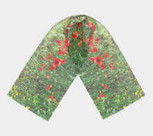 Tuscan Poppies ealanta Long Scarf- ealanta Art Wear