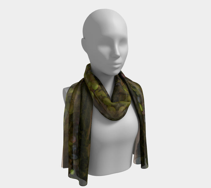 Valley of Olives Tuscay Long Scarf- ealanta Art Wear
