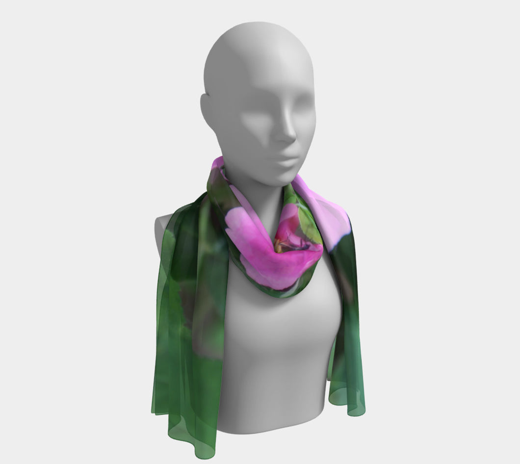 Alberta Rose + Bee scarf Long Scarf- ealanta Art Wear