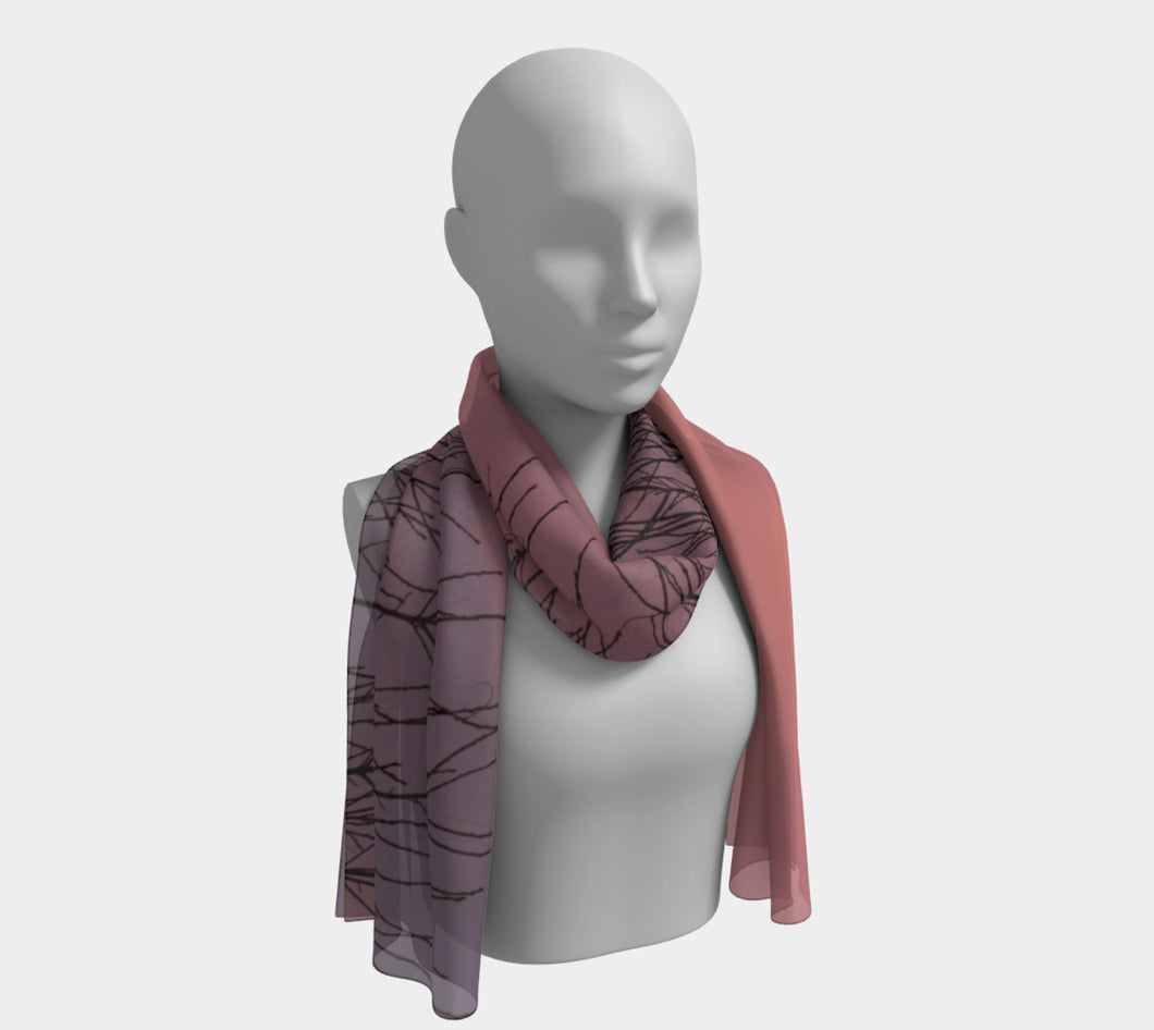 Alberta winter Sky ealanta scarf Long Scarf- ealanta Art Wear
