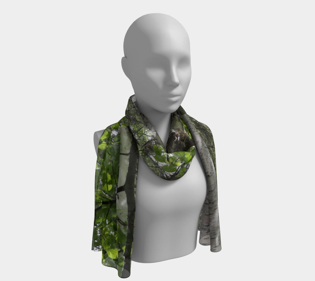 Lone Birch Alberta ealanta scarf Long Scarf- ealanta Art Wear