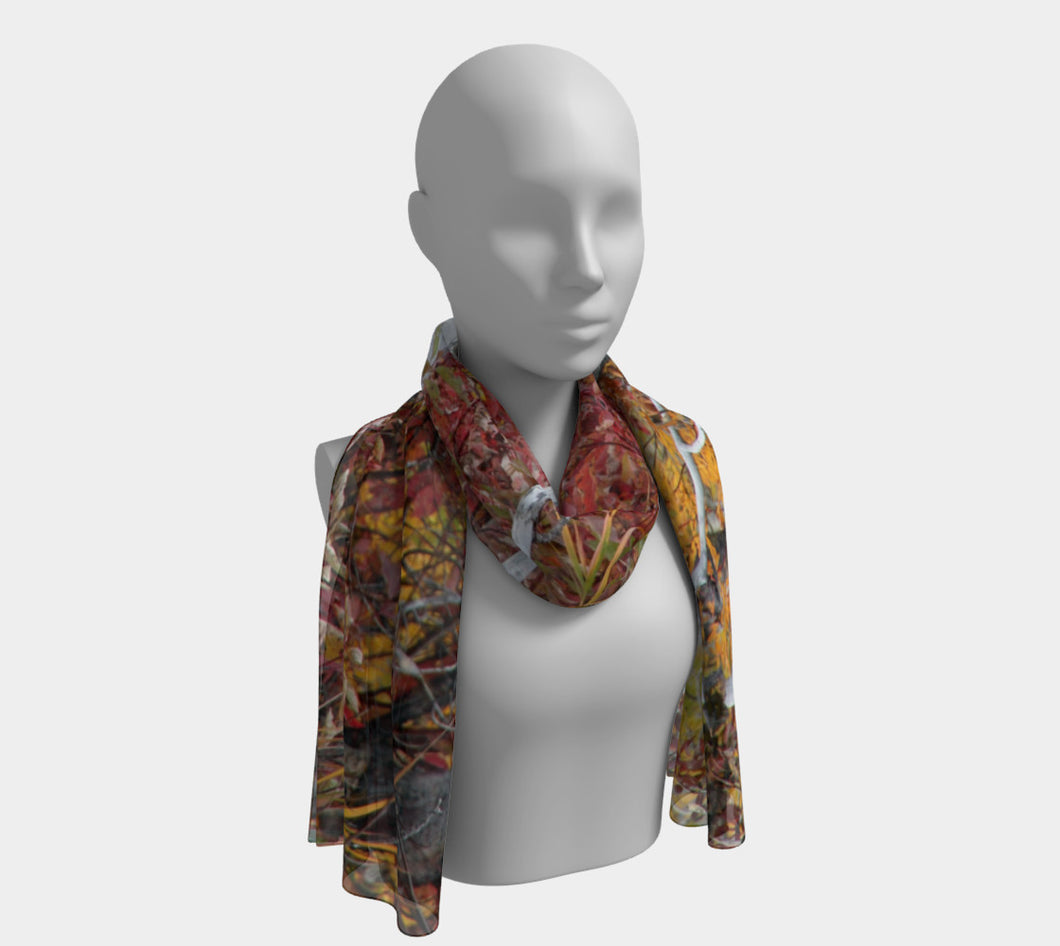 Fall Forest ealanta scarf Long Scarf- ealanta Art Wear