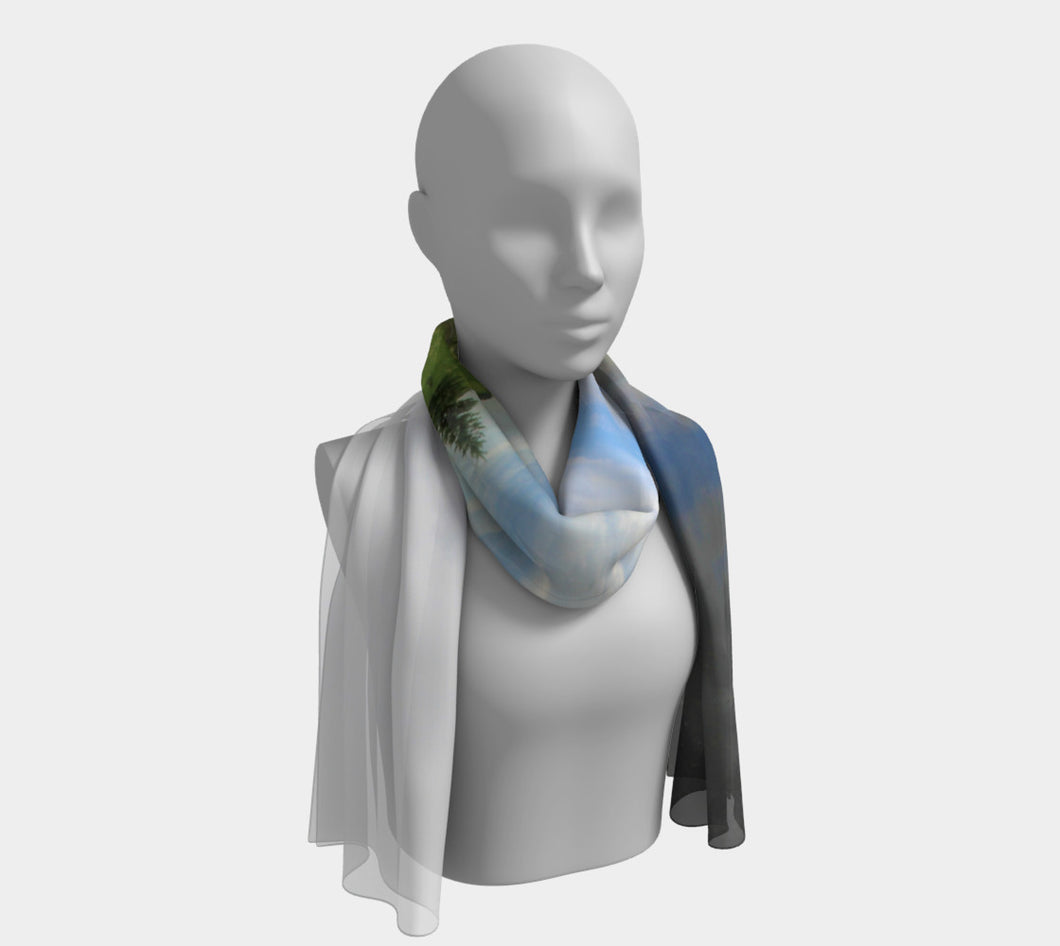Alberta Reflections ealanta scarf Long Scarf- ealanta Art Wear