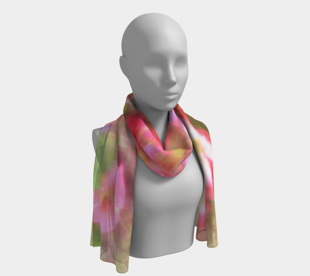 Floral Dream ealanta scarf Long Scarf- ealanta Art Wear
