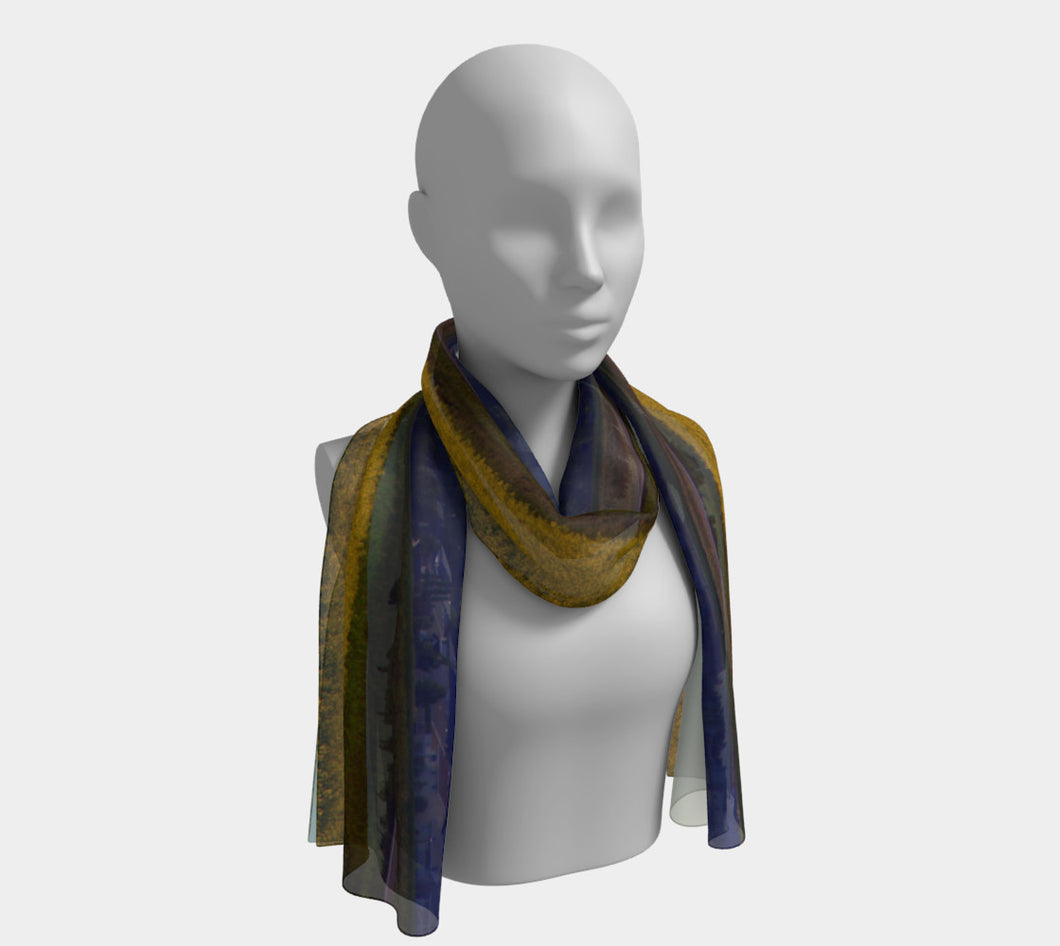 Alberta Town of Beaumont ealanta scarf Long Scarf- ealanta Art Wear