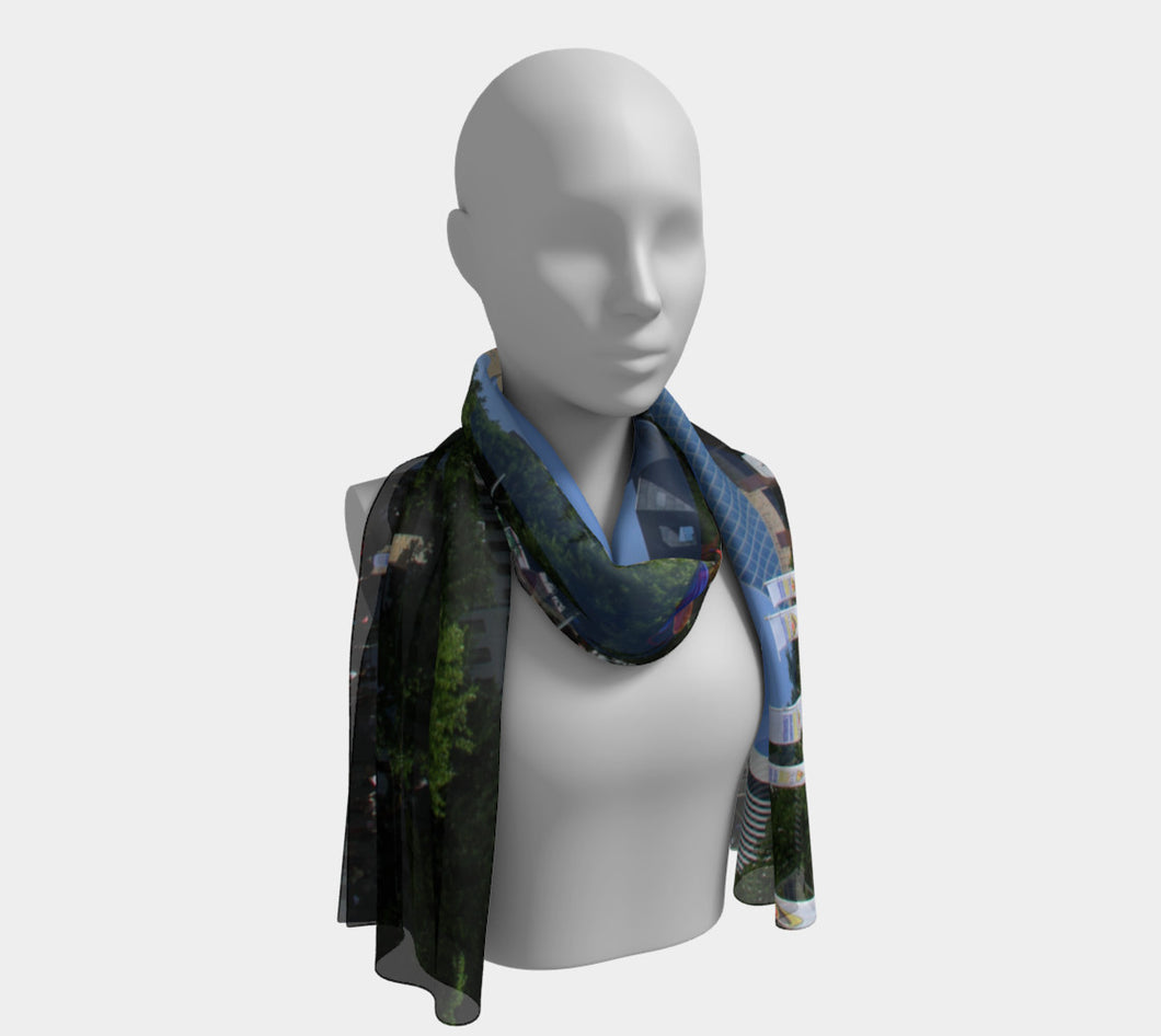 Summer in the Square ealanta scarf Long Scarf- ealanta Art Wear