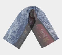 Canadian Rail in the Rockies ealanta scarf Long Scarf- ealanta Art Wear