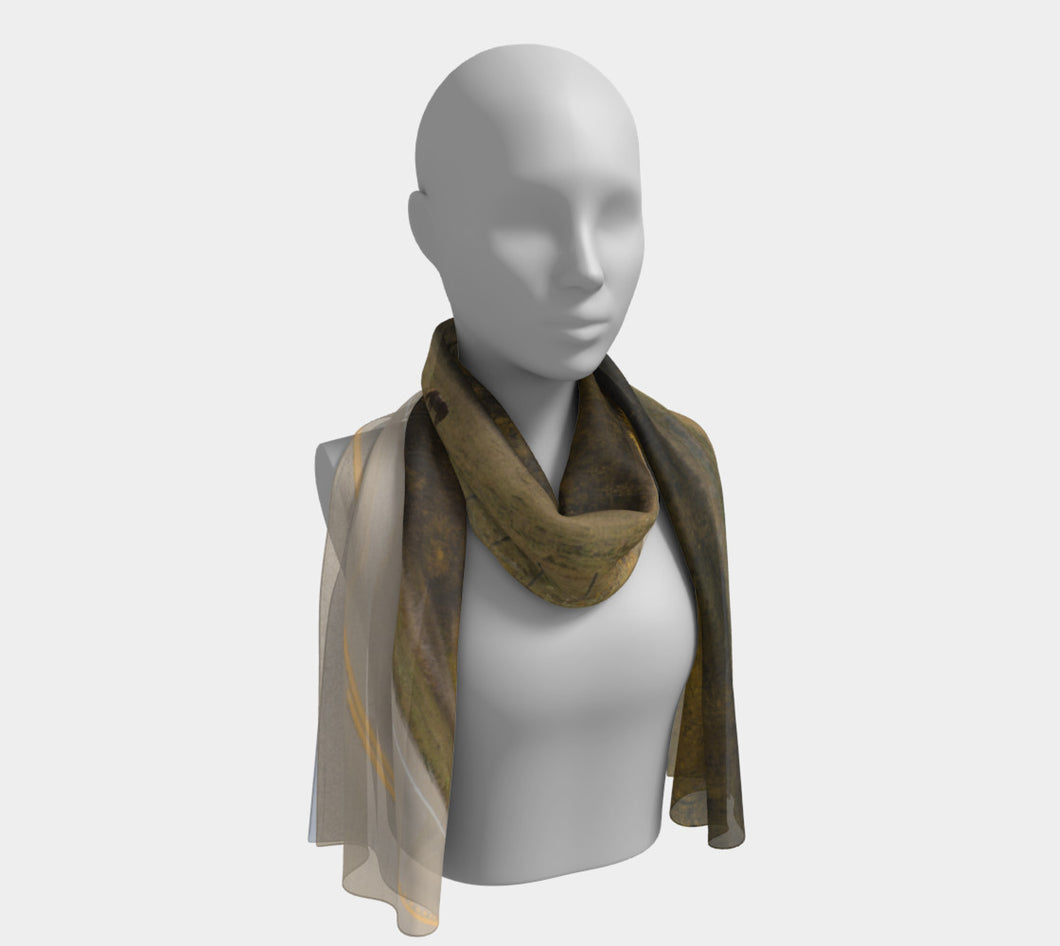 Fall Grazing Alberta ealanta scarf Long Scarf- ealanta Art Wear