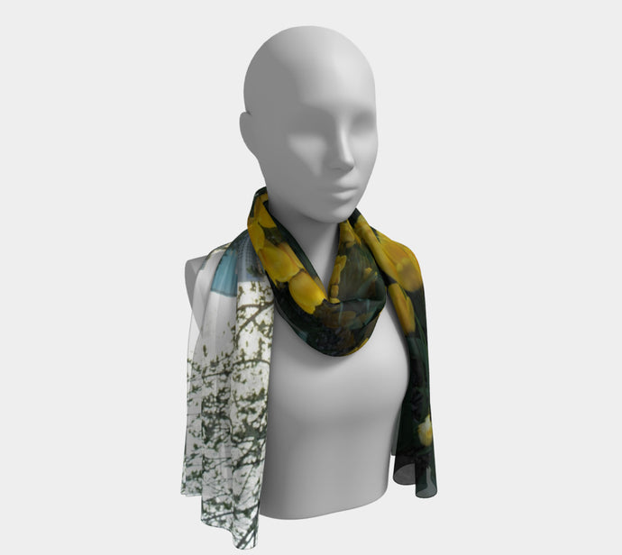 Through the Tulips ealanta scarf Long Scarf- ealanta Art Wear