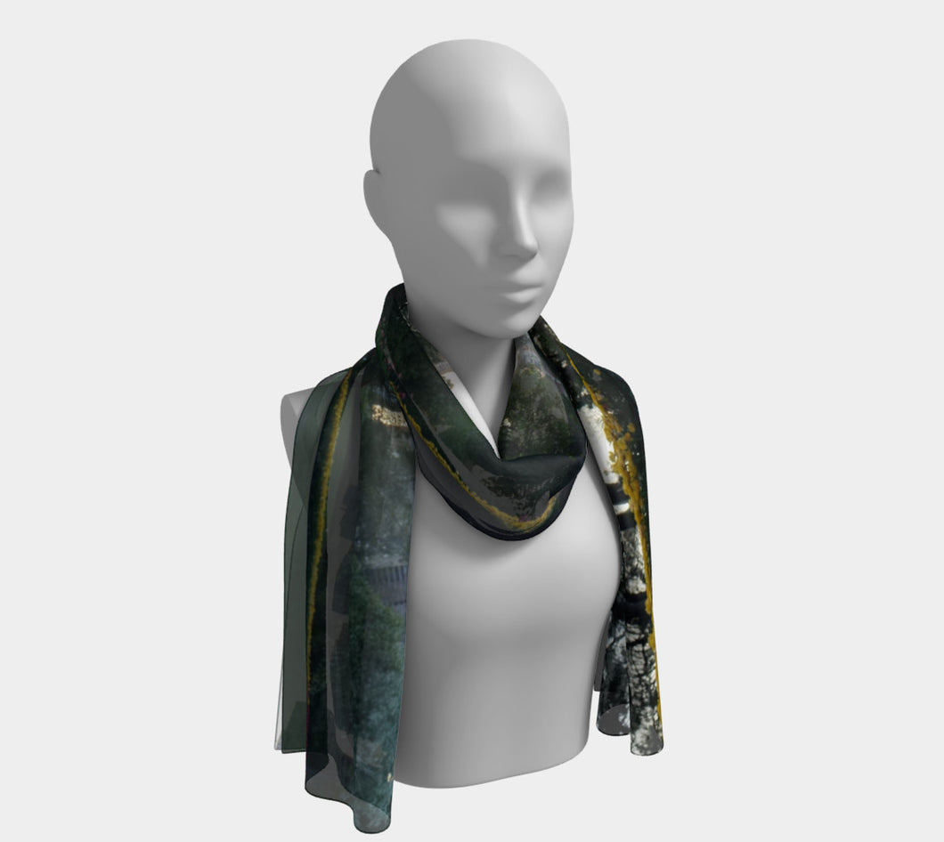 Edmonton Smokey Skies ealanta scarf Long Scarf- ealanta Art Wear