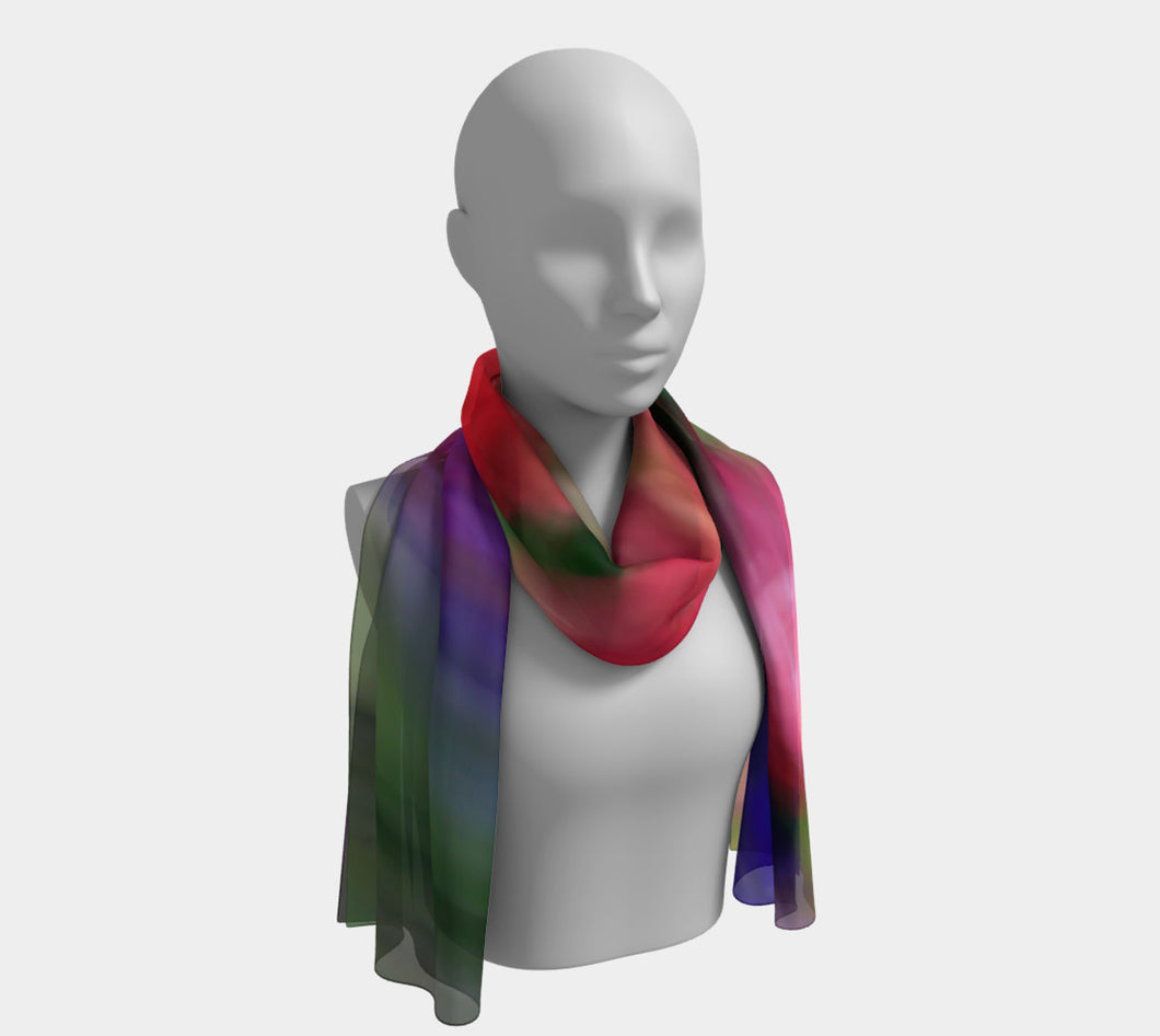 Floral dream 1 Long Scarf- ealanta Art Wear