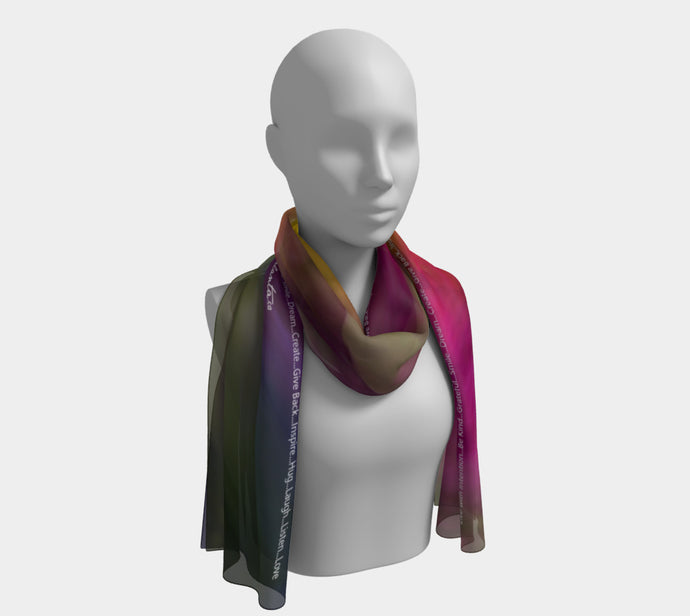 Suit YourSelf Live with Intention Scarf Long Scarf- ealanta Art Wear