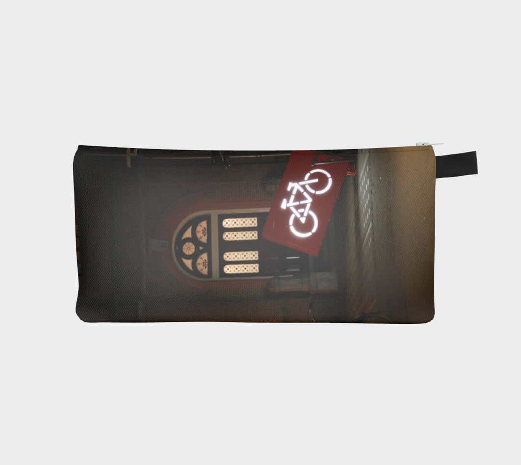 Amsterdam Bike Parking Pencil Case- ealanta Art Wear