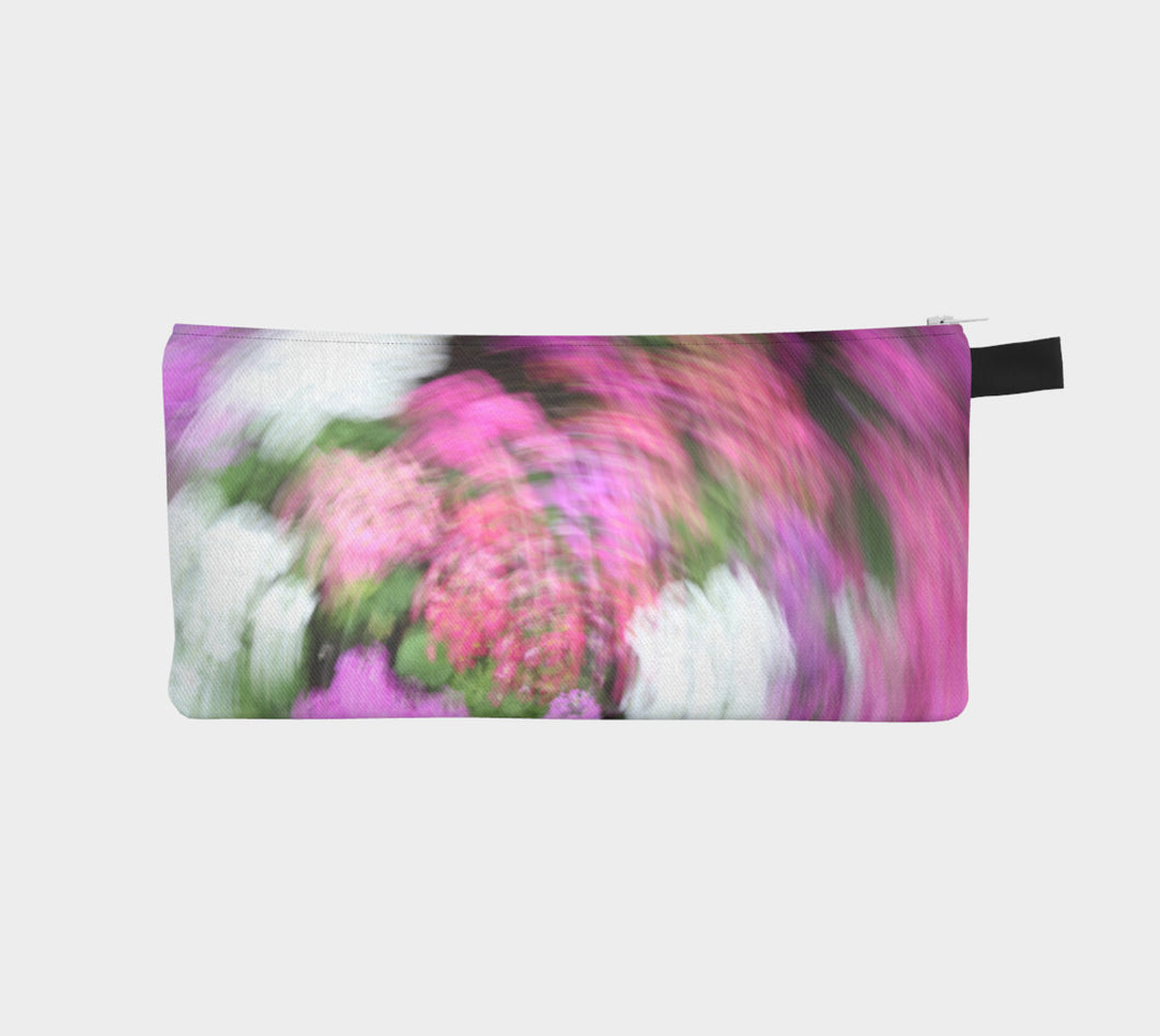 Fuchsia Swirl Floral Abstract Muttart Conservatory Edmonton Alberta Pencil Case- ealanta Art Wear