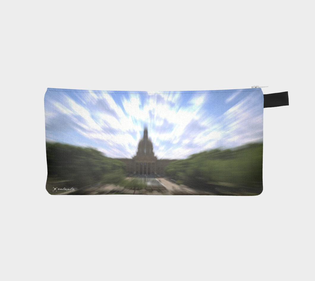 Edmonton Legislature abstract case Pencil Case- ealanta Art Wear