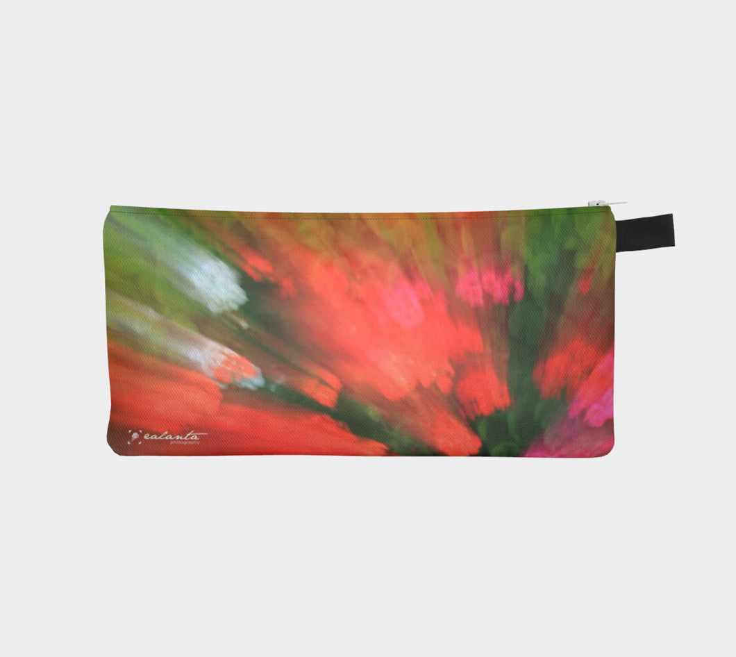 Coral Floral Burst case Pencil Case- ealanta Art Wear