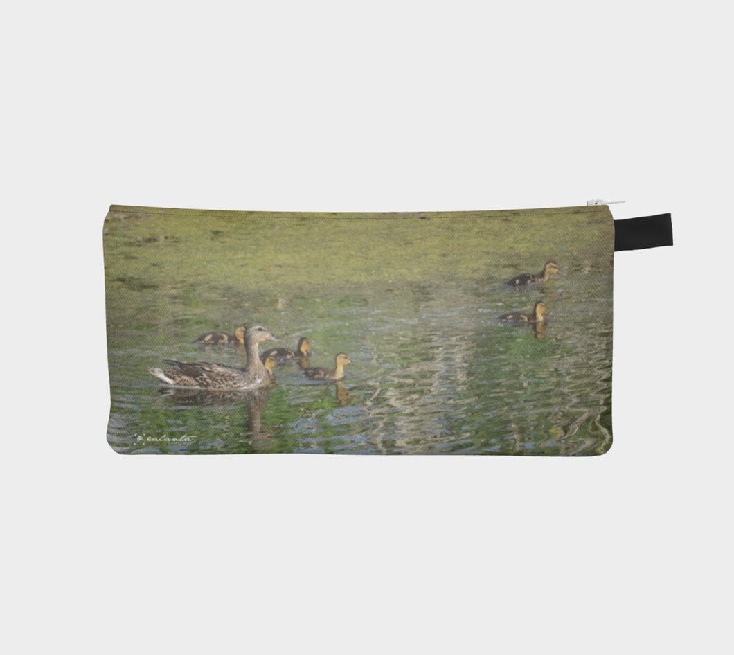 Family Swim Alberta Spring case Pencil Case- ealanta Art Wear