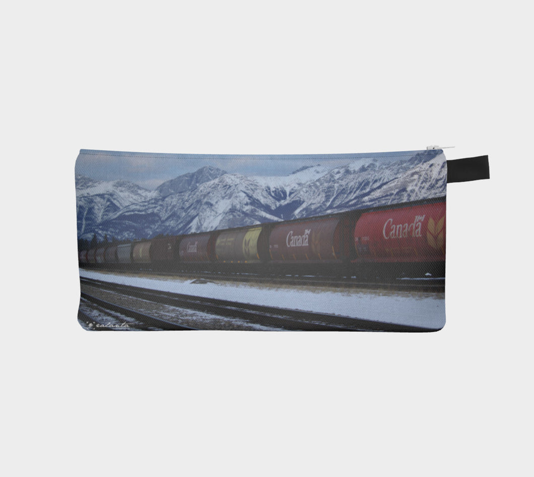 Rails through the Rockies case Pencil Case- ealanta Art Wear