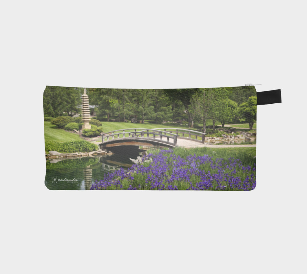 Purple Iris gardens at Devonian case Pencil Case- ealanta Art Wear