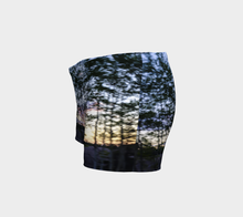 trees in motion shorts Shorts- ealanta Art Wear