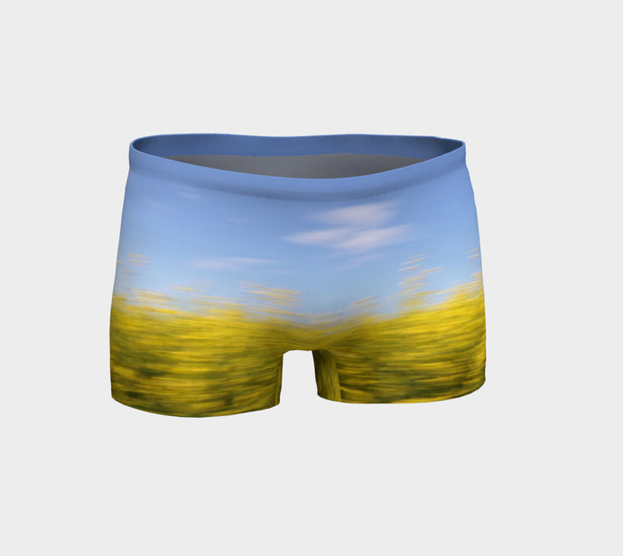 Canola Motion shorts Shorts- ealanta Art Wear