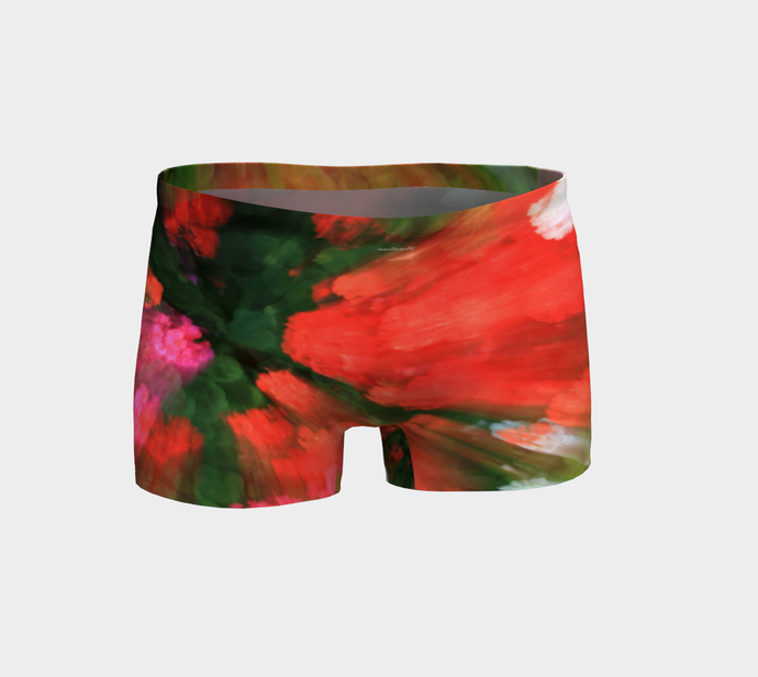 Floral Splash shorts Shorts- ealanta Art Wear