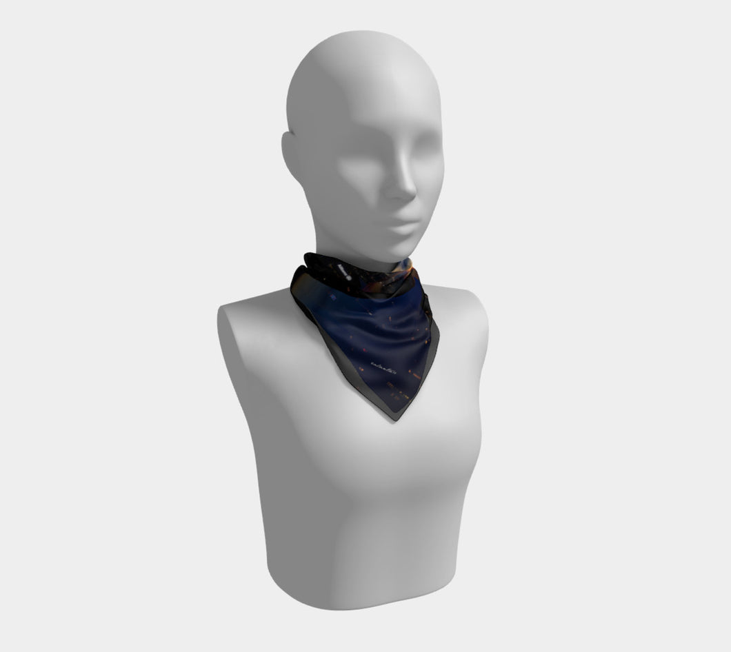 New York Night 1  ealanta Square Scarf- ealanta Art Wear