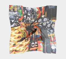 NYC Menswear Window Shopping ealanta Square Scarf- ealanta Art Wear
