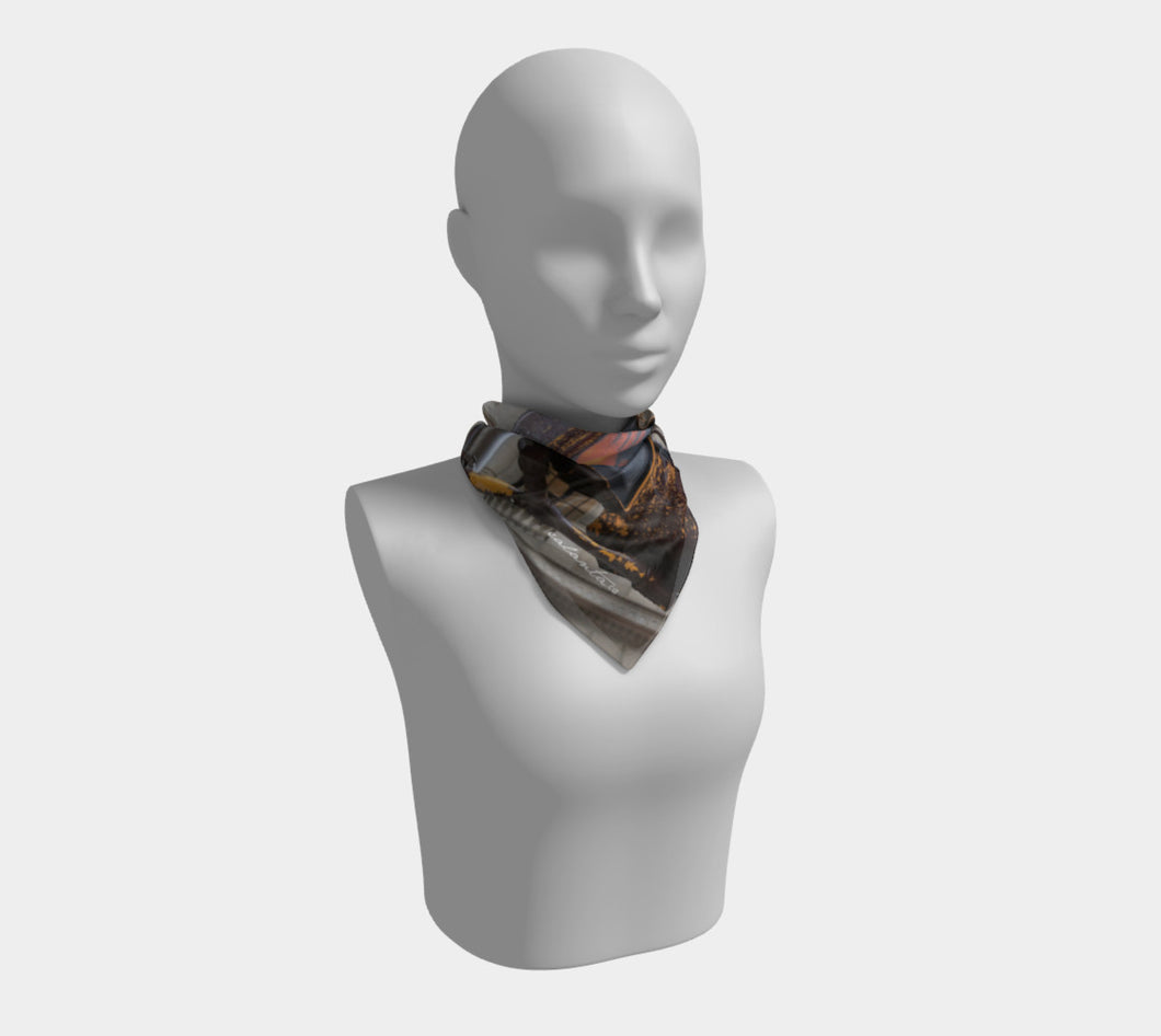 NYC One Way ealanta Square Scarf- ealanta Art Wear