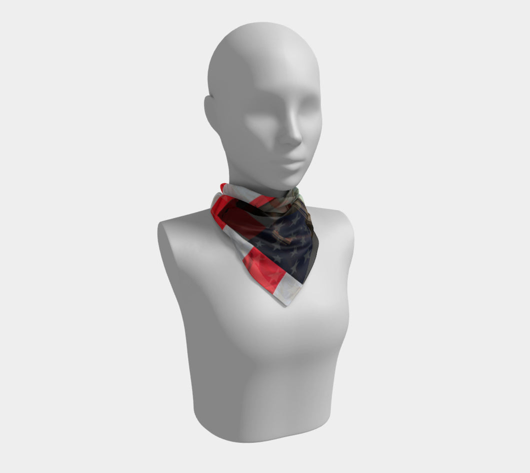 USA Time ealanta Square Scarf- ealanta Art Wear