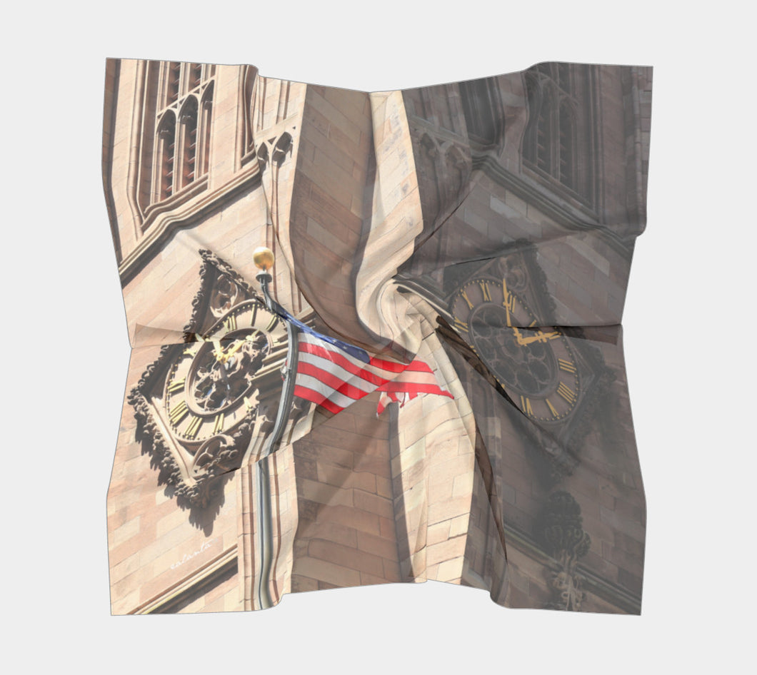 NYC Time ealanta Square Scarf- ealanta Art Wear