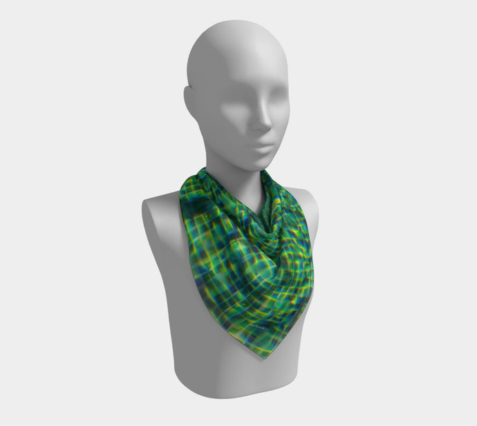 Tuscan Pool  ealanta Square Scarf- ealanta Art Wear