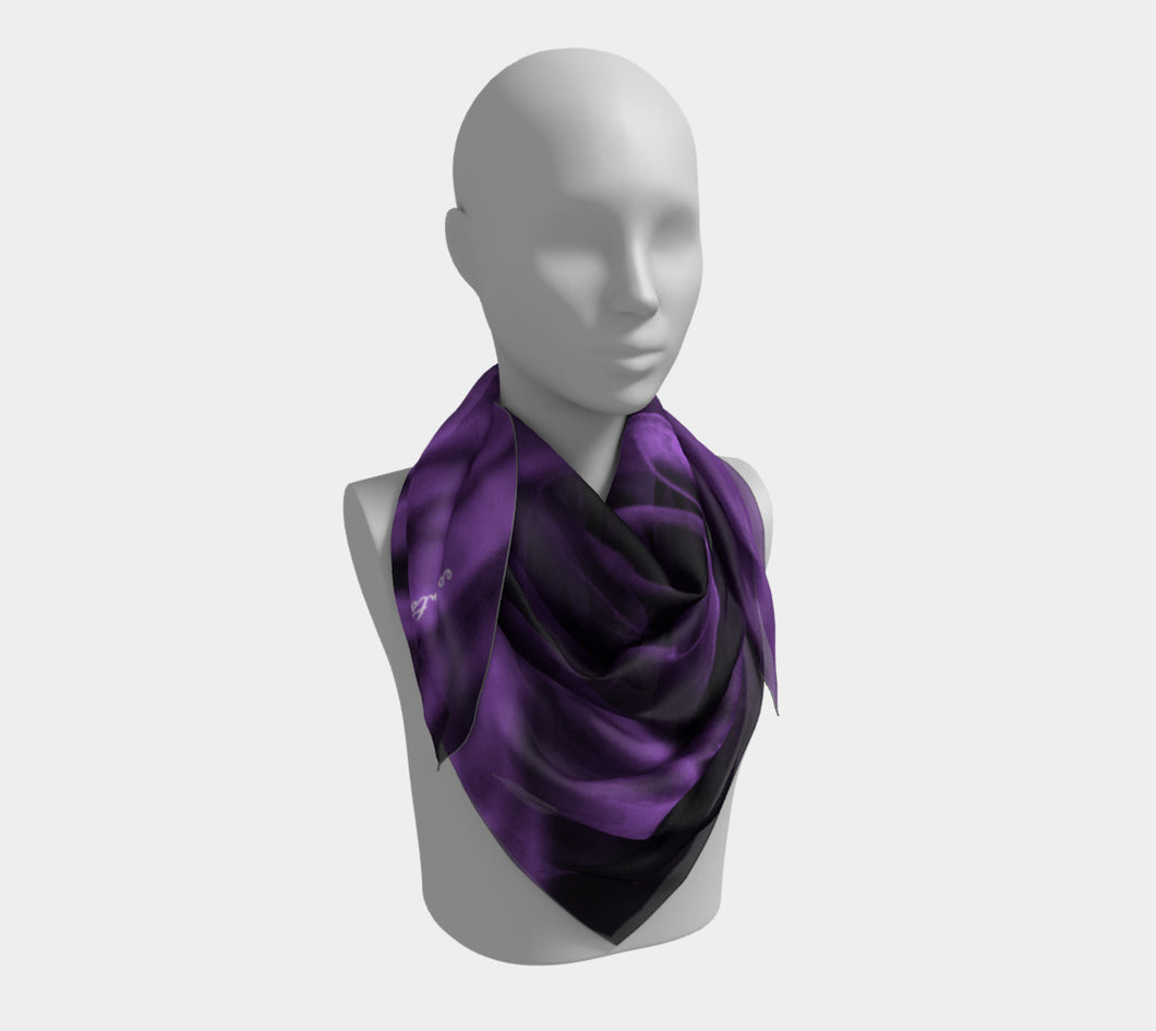 Violet Rose  ealanta Square Scarf- ealanta Art Wear