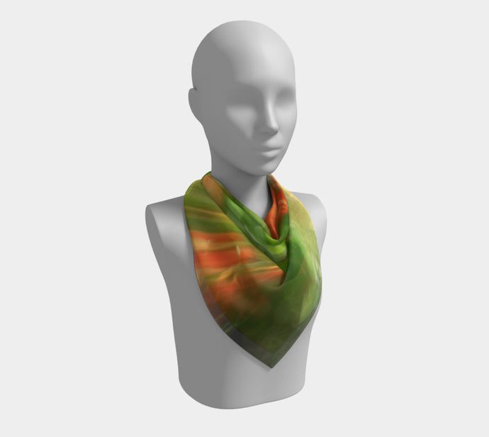 Citrus Burst  ealanta Square Scarf- ealanta Art Wear