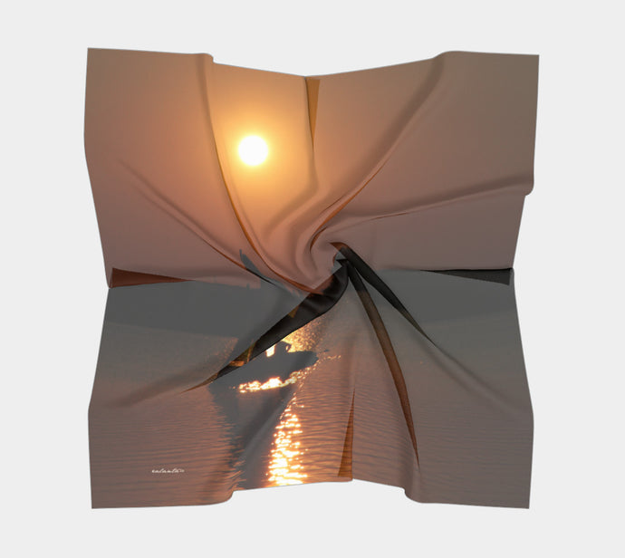 Time to Reflect ealanta Square Scarf- ealanta Art Wear