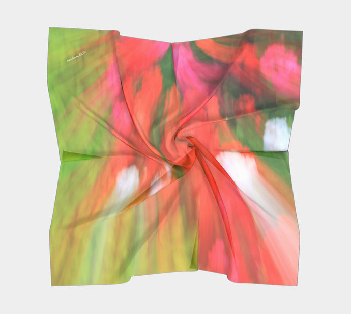 Floral Paint  ealanta Square Scarf- ealanta Art Wear