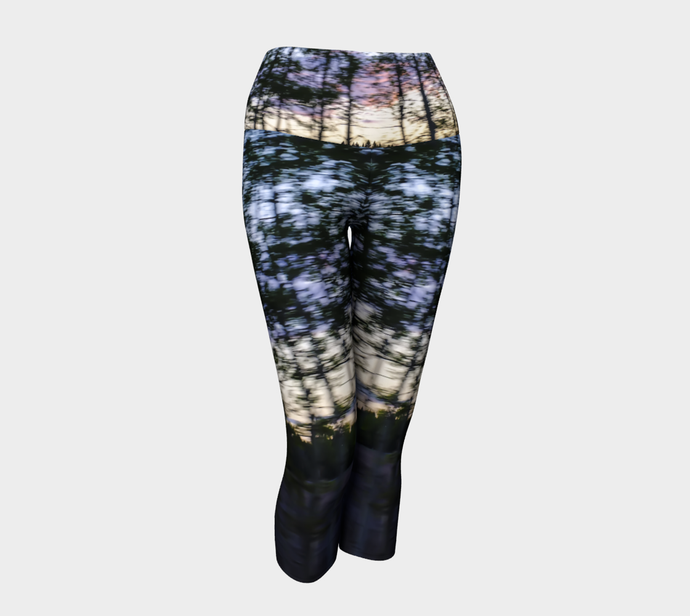Tree Motion Yoga Capri Leggings 2 Yoga Capris- ealanta Art Wear