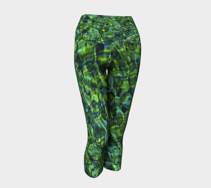 Tuscan Pool Yoga Capri Yoga Capris- ealanta Art Wear