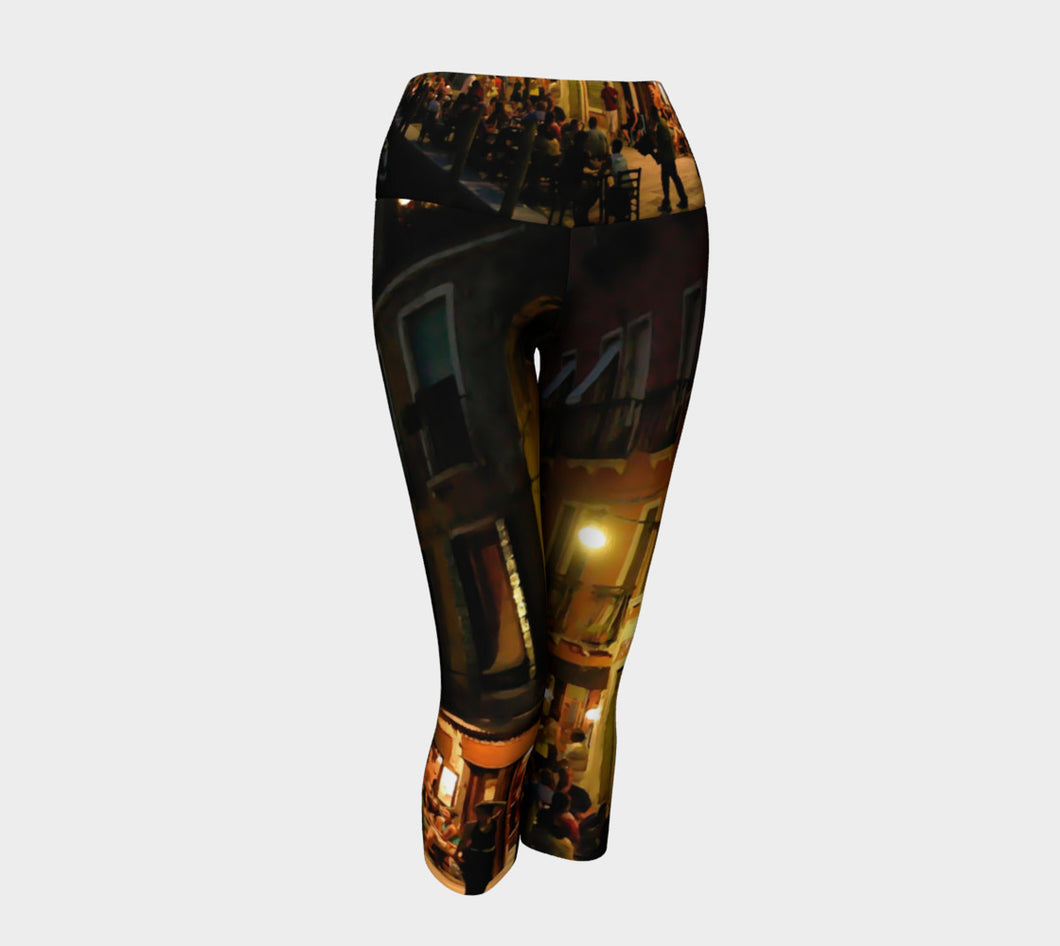 Venice Night Yoga Capri Yoga Capris- ealanta Art Wear
