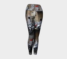 Graffiti Florence Motor Bike Parking ealanta Yoga Leggings- ealanta Art Wear