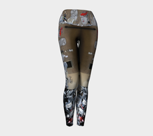 Graffiti Florence 3 ealanta Yoga Leggings- ealanta Art Wear