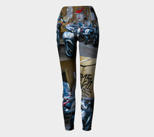 Graffiti Florence ealanta.ca Yoga (Sept) Yoga Leggings- ealanta Art Wear