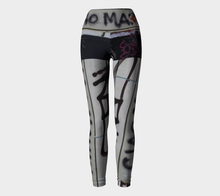 Ciao Mamma Graffiti Yoga Leggings 4 ealanta Yoga Leggings- ealanta Art Wear