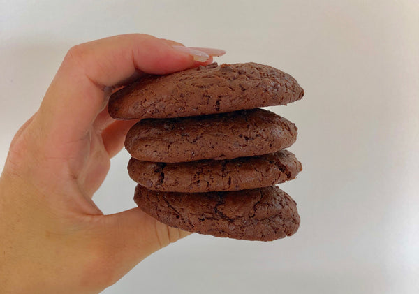 Chewy Triple Choc Cookies