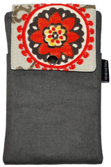 Grey Floral Twill Essential Case