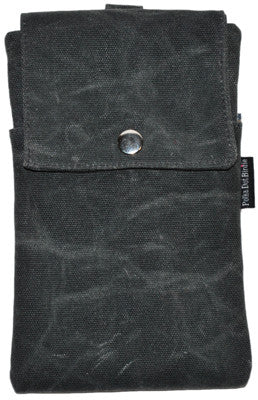 Grey Waxed Canvas Essential Case