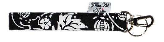 Black & White Vine Key Wristlet