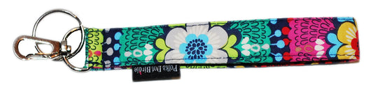Flower Burst Key Wristlet